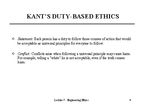 kants theory of ethical duty Busca trabajos relacionados con critics kants theory o contrata en el mercado de freelancing más grande del mundo  , kants theory ethical duty.